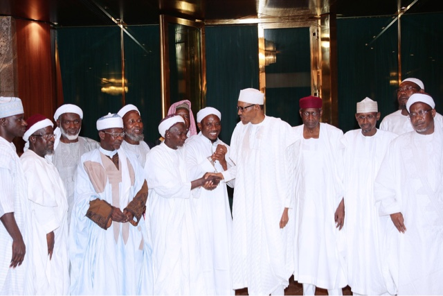 President Buhari receives members of the Council of Abuja Imams (PHOTOS) 2