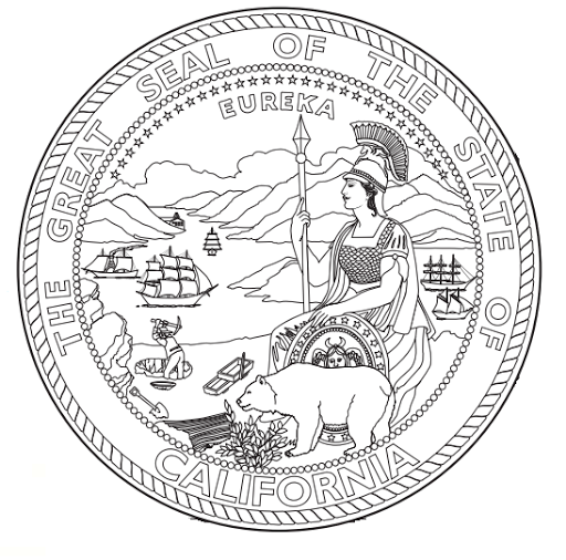 California State Coloring Page