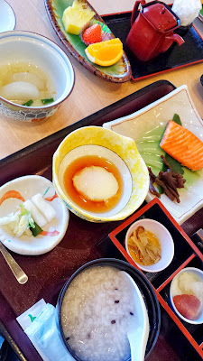 You have the option of white rice, brown rice, or what I selected which is a porridge along with your kaiseki or traditional Japanese breakfast set at Wakakusa no Yado Maruei