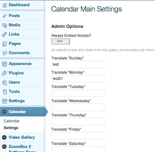 Events Calendar - WordPress Plugin DZS - 1