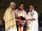 Dr.B.N.Gangadhar awarded the Doctor of Science being felicitated by the Vice Chancellor Dr.H.R.Nagendra and Dr.S.C.Sharma, Chief Guest