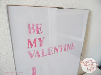 Lámina para decorar en San Valentín.