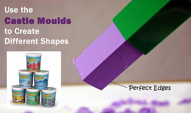 Cát nặn siêu nhẹ màu tím Bubber Petal Purple có khả năng tự hút ẩm nên không bao giờ bị khô kiệt
