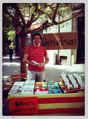 Ferran Cerdans amb els Llibres Artesans