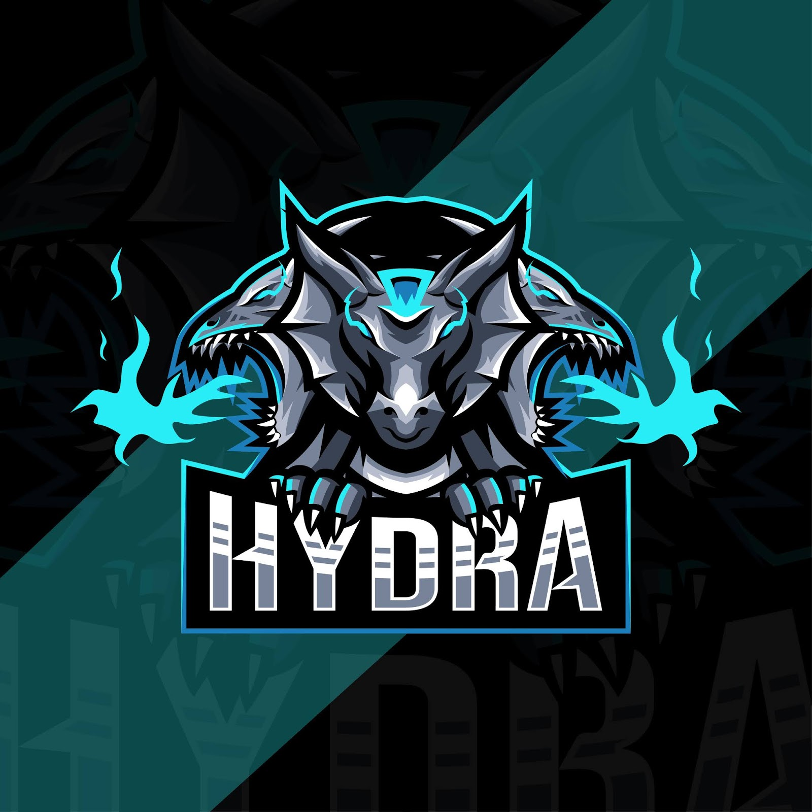 Hydra Mascot Logo Esport Template Free Download Vector CDR, AI, EPS and PNG Formats