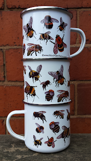 Bee enamel mug by Alice Draws The Line