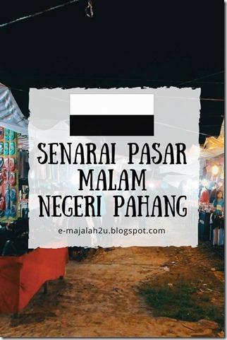 senarai-pasar-malam-pahang-night-market-list