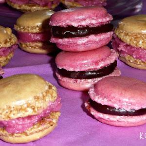 Chocolate and Rasberry Macaroons
