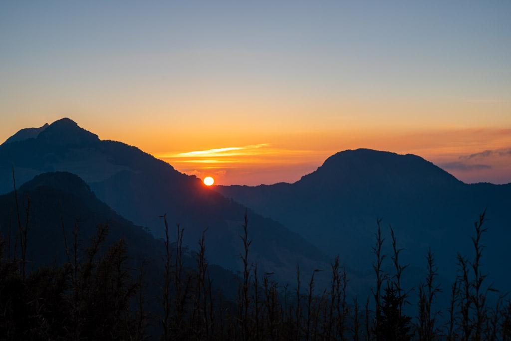 武陵四秀──桃山山屋夕陽