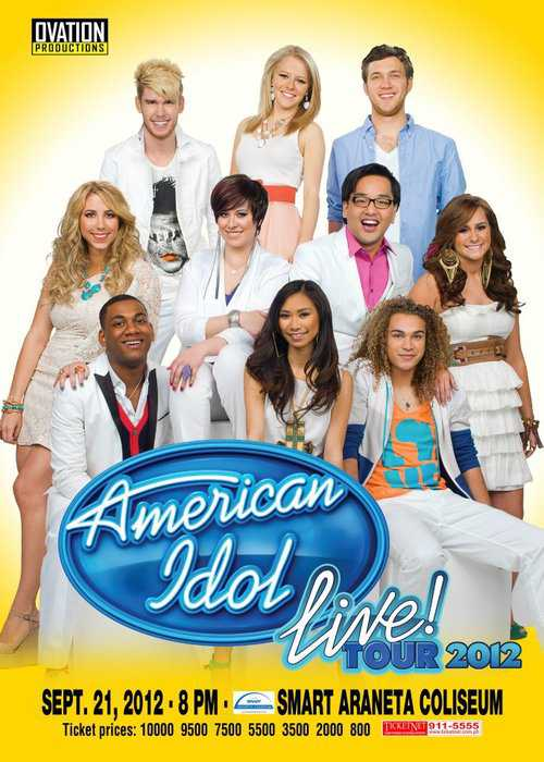 American Idol Live Tour 2012 Poster