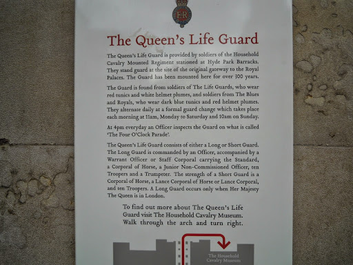 Household Cavalry Museum - Queen's Life Guard. From The Complete Guide to the Changing of the Guards