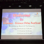 """Scinema""– The Science film festival [2014-2015]"