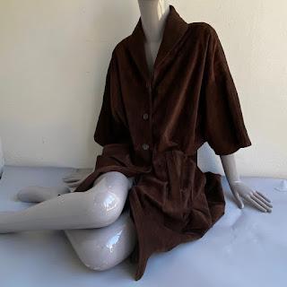 Miu Miu Chocolate Suede Leather Coat