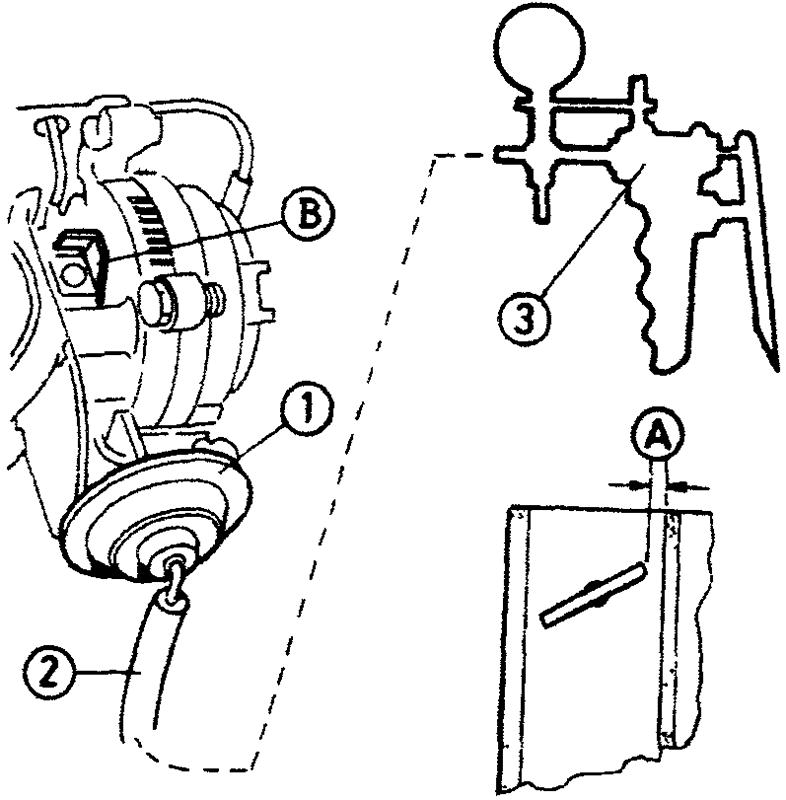 Система открытия полуавтоматической воздушной заслонки - однопозиционная система