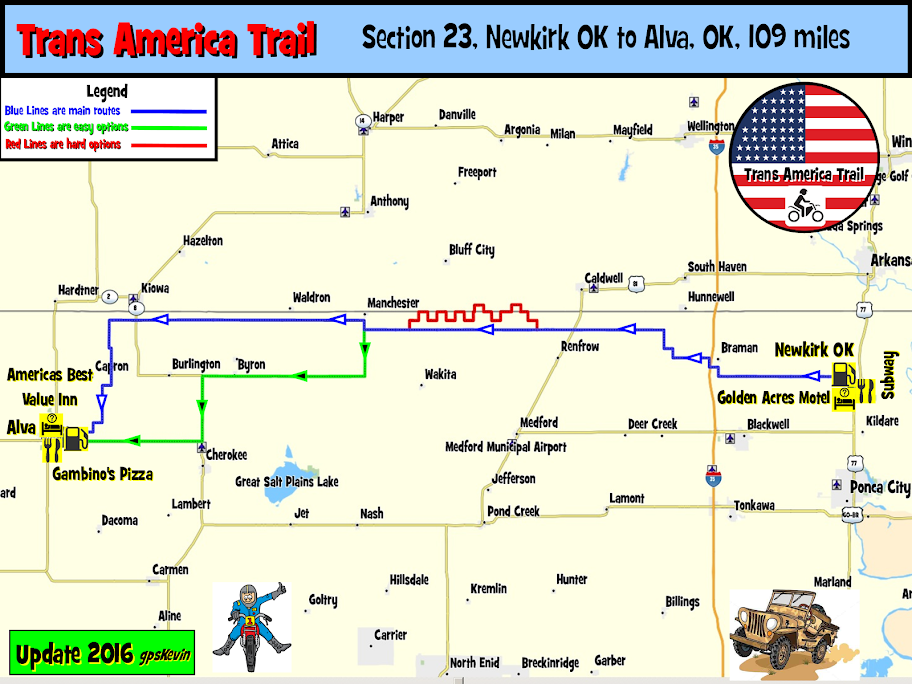 Tat Section 23 Newkirk Ok To Alva Ok Gpskevin Adventure Rides