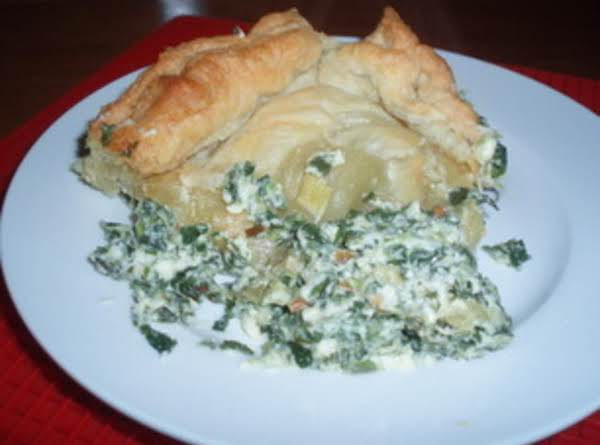 Spinach Cheese Casserole In Puff Pastry