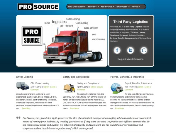 driver leasing company - pro source inc