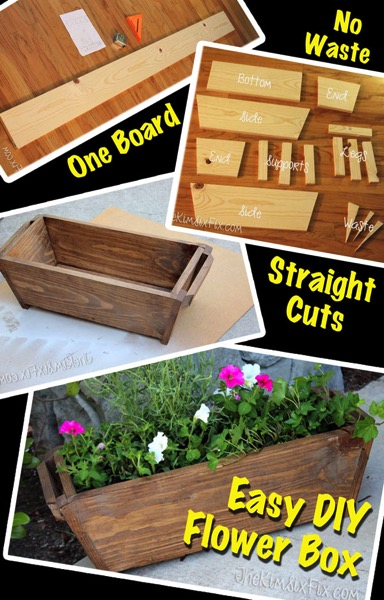 Easy DIY Flower Box from One Board