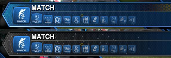 Novos icone para o menu - PES 2013