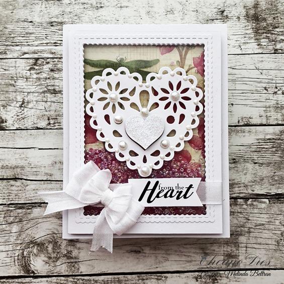 Heart Die cut card, Cheapo Dies, Die Cut Card Project Idea