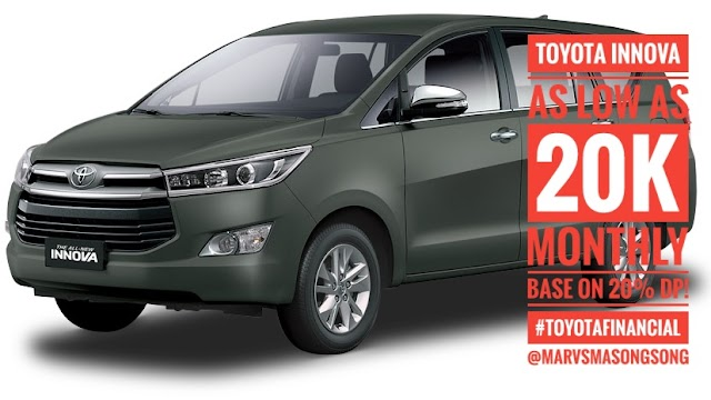 PROMO! Toyota INNOVA as low as 20k Monthly base 20% DP under Toyota Financial!