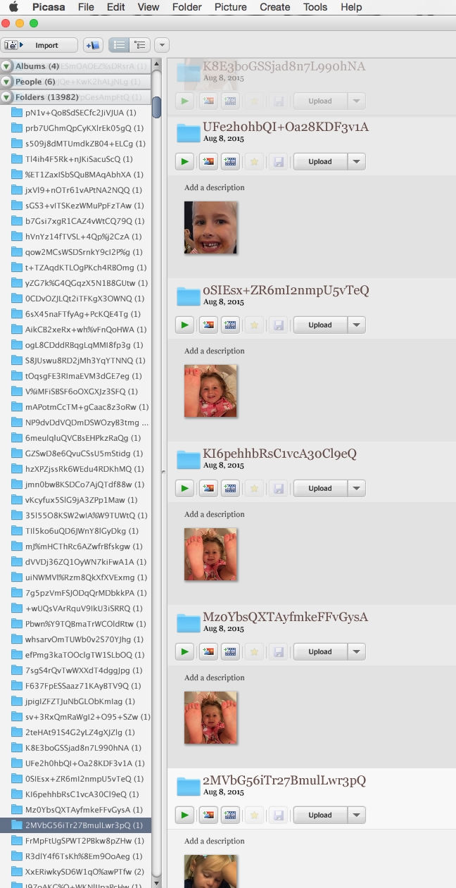 My Picasa folders have been replaced by 14,000 new folders