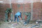 Rehab Gedung TPA Al-Amin Dukuh Boto, Majasto mulai dikerjakan Satgas TMMD Reg ke 112 Kodim 0726/Sukoharjo