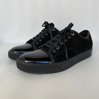 Lanvin Black Suede Sneakers