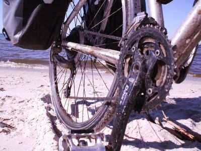 Sand und Salzwasser setzen dem Fahrrad zu, Ostsee-Küste Polen