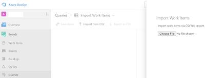 Import work items