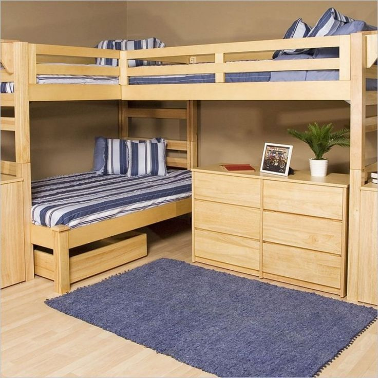 Hometary Bunk Beds With Desk And Drawers Most Popular Four Types