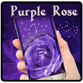 Purple Water Star Rose Theme