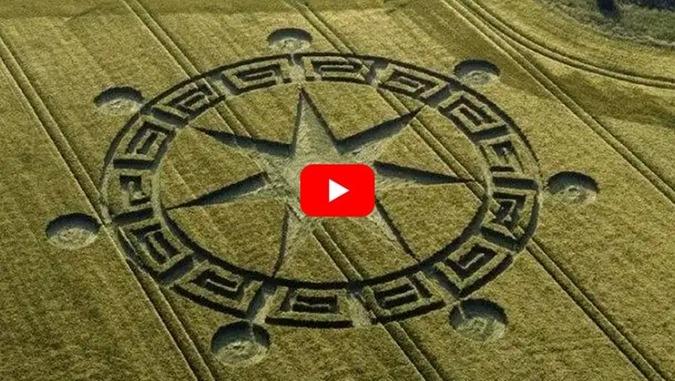 Símbolo do Círculo de Colheita dos Sete Anjos do Apocalipse na Terra