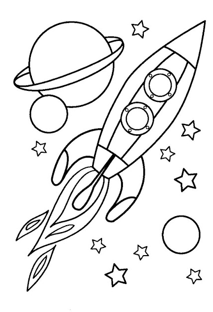 Best Spaceship Coloring Pages For Toddlers