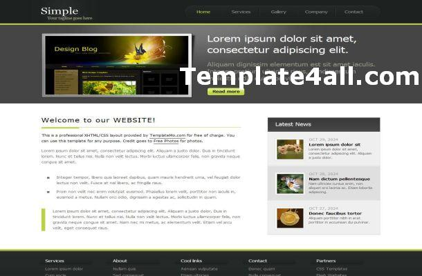 Simple Gray Business CSS Template