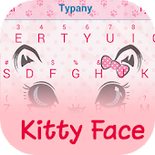 Kitty Face Theme Keyboard