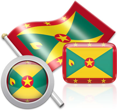 Grenadian flag icons pictures collection