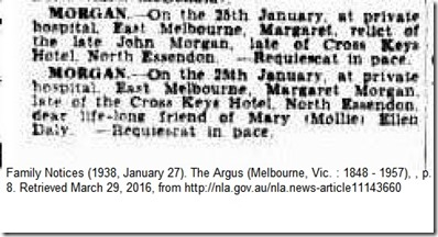 margaret omeara morgan death notice