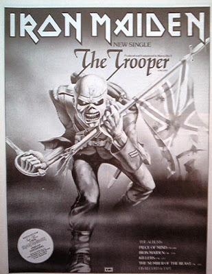 IRON MAIDEN The Trooper 1983 rare UK magazine ADVERT -mini Poster