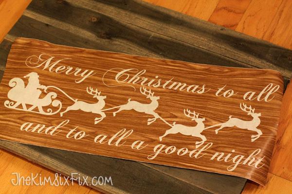 Merry Christmas Santa Sleigh Stencil