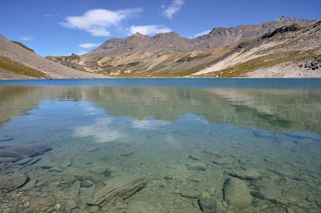 Traversée des Alpes, du lac Léman à la Méditerranée Gr5-mont-blanc-briancon-plan-nettes-eau