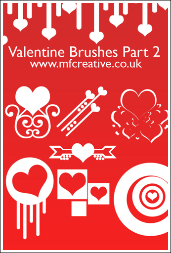 Valentine Brushes Pack 2 by xmandypandyx