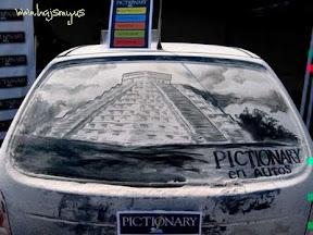 Amazing! Melukis Diatas Mobil Berdebu | Hajsmy Blog
