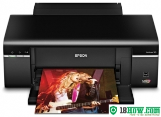 How to reset flashing lights for Epson Artisan 830 printer