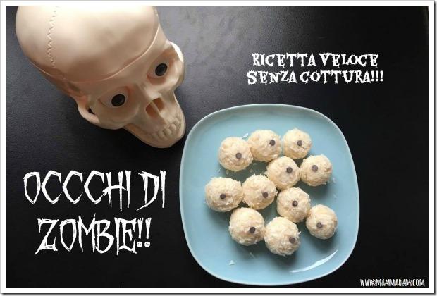 ricetta halloween bambini occhi zombie