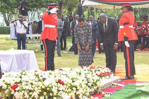 DP Ruto bid farewell to the late President Daniel Moi. PHOTO | COURTESY