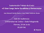 """""""El Gran Juego Serio: Escultismo y Democracia"""""""