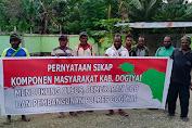 Mendukung Otsus, DOB dan Pembangunan Polres, Masyarakat Adat Dogiyai Gelar Pernyataan Sikap
