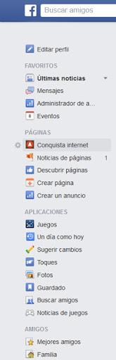 Página de empresa Facebook Conquista internet