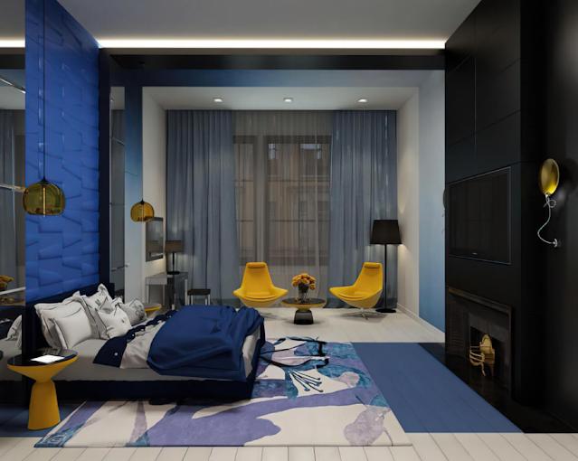 Các mẫu phòng ngủ đẹp cho nam với nhiều gam màu khác nhau